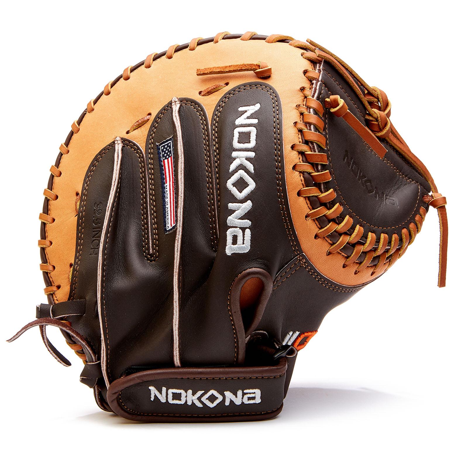 nokona-alpha-fastpitch-32-5-softball-catchers-mitt-right-hand-throw S-V2C-RightHandThrow Nokona 808808894063 AmericanKIP is the finest American steerhide with similar characteristics to Japanese