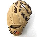 nokona alpha select series s 100 i tan brown 10 5 youth baseball glove right hand throw