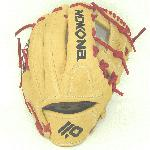 Nokona Alpha Select Series: S 100 I Tan Red 10.5 Youth Baseball Glove Right Hand Throw