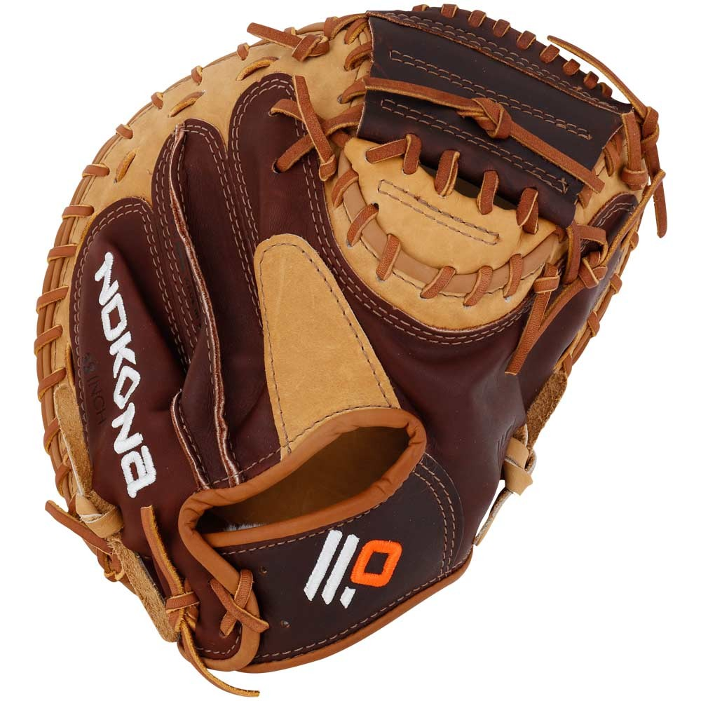 nokona-alpha-select-youth-baseball-catchers-mitt-32-right-hand-throw S2C-RightHandThrow Nokona 808808890591 This Youth performance series is made with Nokonas top-of-the-line leathers StampedeTM