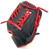 nokona american kip 11 5 baseball glove black red right hand throw