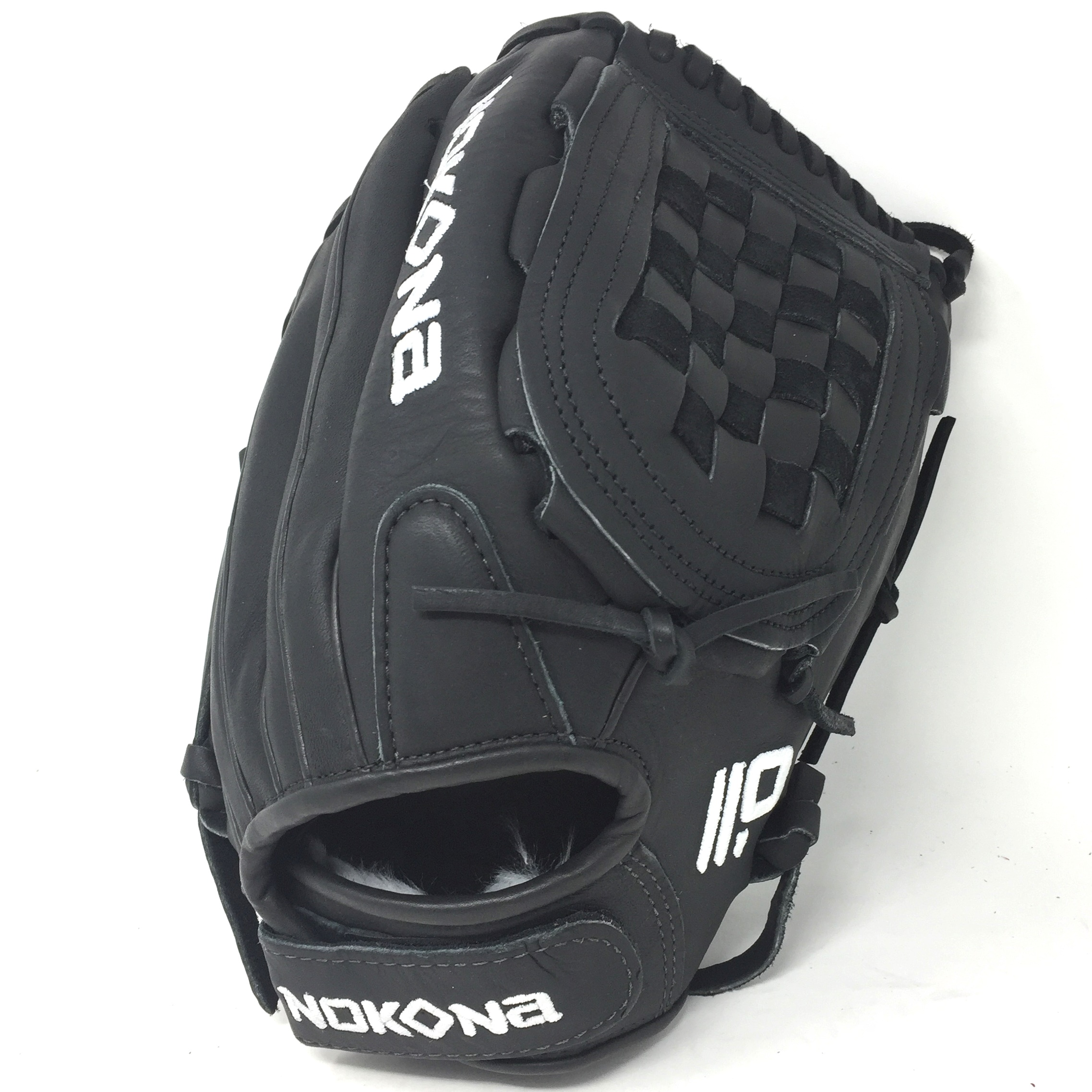 nokona-american-kip-12-5-fastpitch-softball-glove-right-hand-throw A-V1250C-BK-RightHandThrow Nokona 808808894261 12.5 Inch Pattern AmericanKIP - American Steerhide With Characteristics Similar To