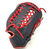 nokona american kip 12 75 baseball glove black red right hand throw