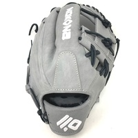 nokona american kip 14u gray with black laces 11 25 baseball glove i web right hand throw