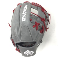 nokona american kip 14u gray with red laces 11 25 baseball glove i web right hand throw