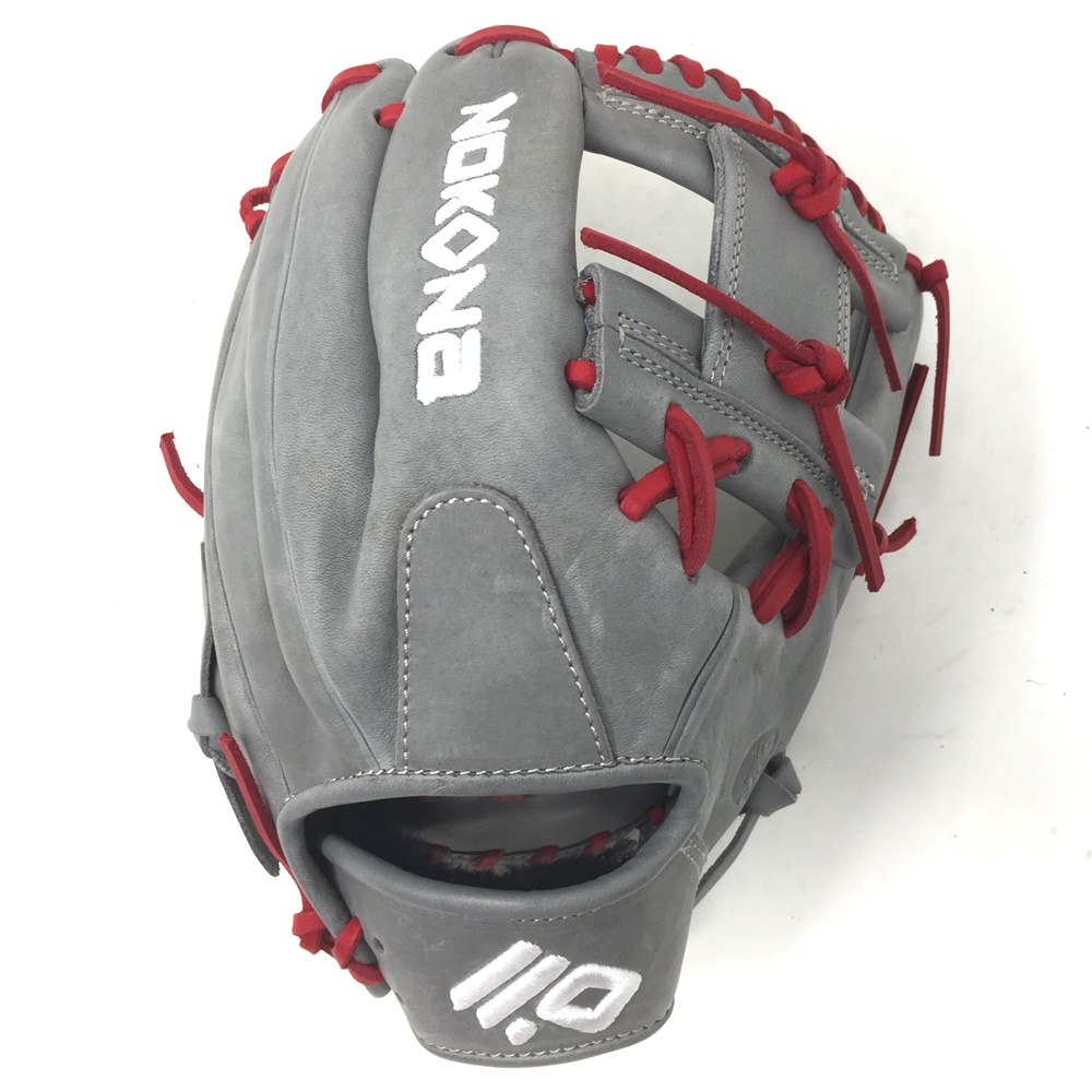 nokona-american-kip-14u-gray-with-red-laces-11-25-baseball-glove-i-web-right-hand-throw A-200I-GR-RED-RightHandThrow Nokona Does Not Apply The American Kip series made with the finest American steer hide