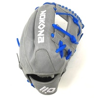 nokona american kip 14u gray with royal laces 11 25 baseball glove i web right hand throw