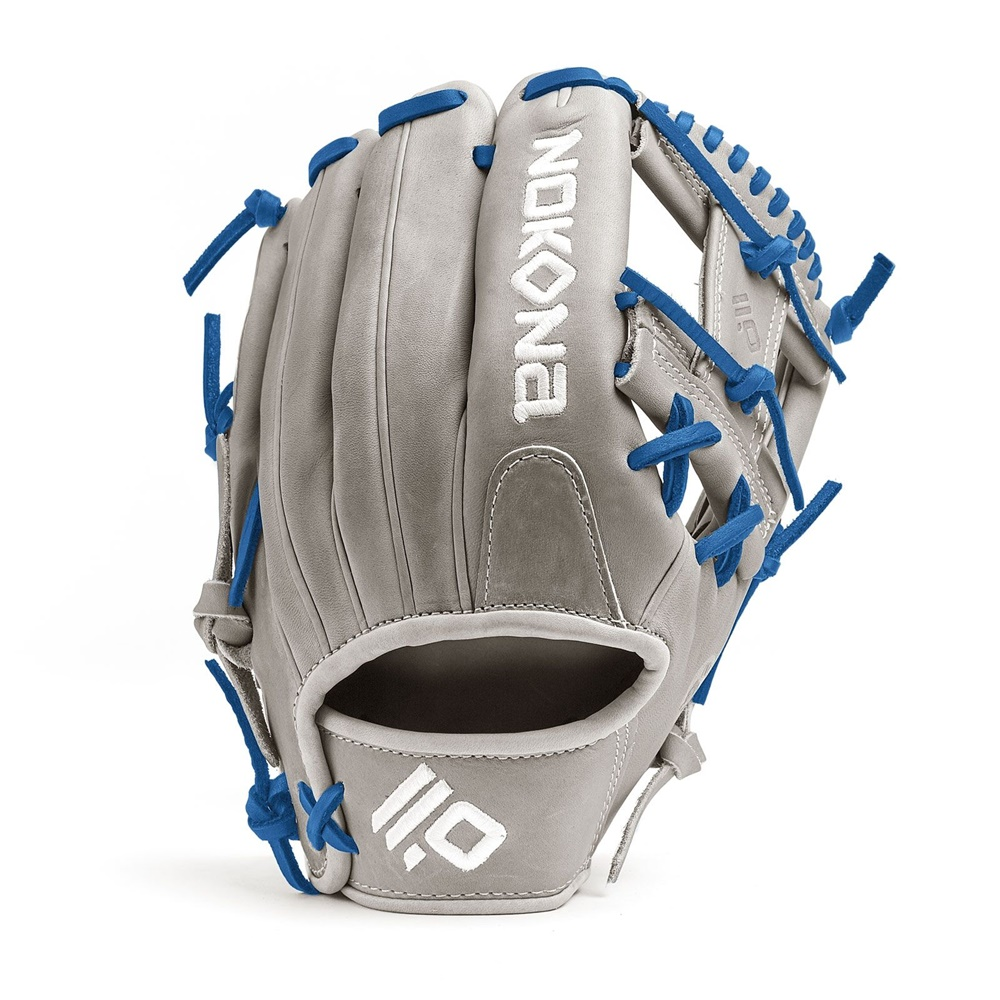 The American Kip series, made with the finest American steer hide, tanned to create a leather with similar characteristics to Japanese and European kip leather, making a light weight and highly structured glove. This series is offered in four modern colors - white, black, blonde, and gray - This glove is stiff and designed for 14 and under player with smaller hand opening.