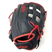 12.5 Inch Pattern AmericanKIP - American Steerhide With Characteristics Similar To European& Japanese Kip Leather Colorway: Black Fastpitch Specific Pattern - Smaller Hand Opening & Finger Stalls Fully Closed Basket Web.