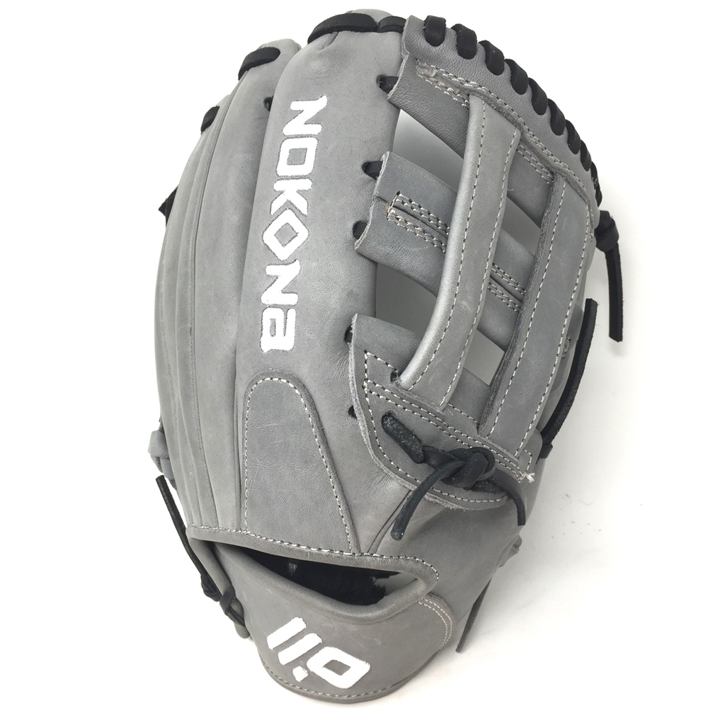 nokona-american-kip-gray-with-black-laces-11-5-baseball-glove-closed-h-web-right-hand-throw A-1150H-GR-BK-RightHandThrow  Does Not Apply The American Kip series made with the finest American steer hide