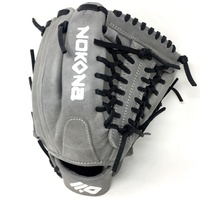 nokona american kip gray with black laces 11 5 baseball glove mod trap web right hand throw