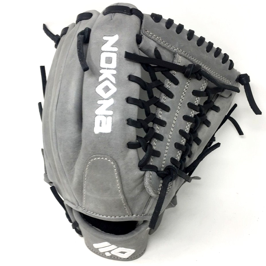 nokona-american-kip-gray-with-black-laces-11-5-baseball-glove-mod-trap-web-right-hand-throw A-1150M-GR-BK-RightHandThrow  Does Not Apply The American Kip series made with the finest American steer hide