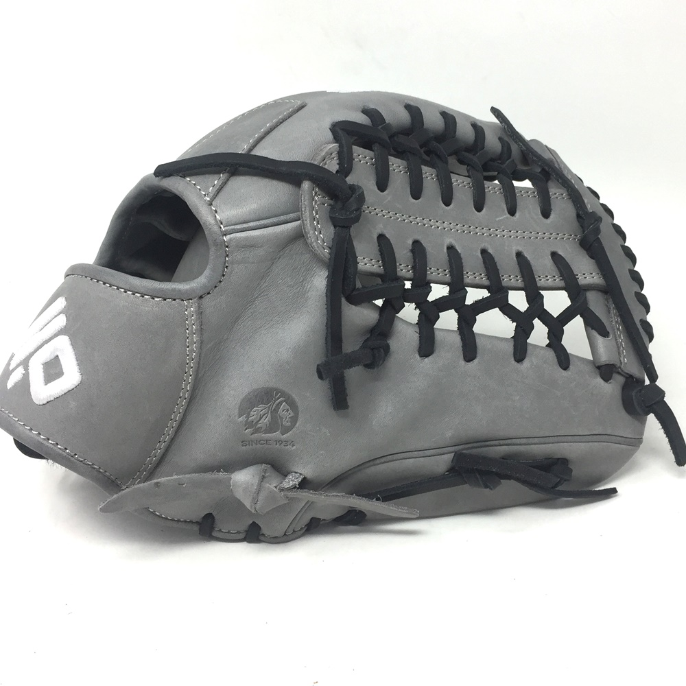 nokona-american-kip-gray-with-black-laces-12-baseball-glove-mod-trap-web-right-hand-throw A-1200M-GR-BK-RightHandThrow Nokona Does Not Apply The American Kip series made with the finest American steer hide