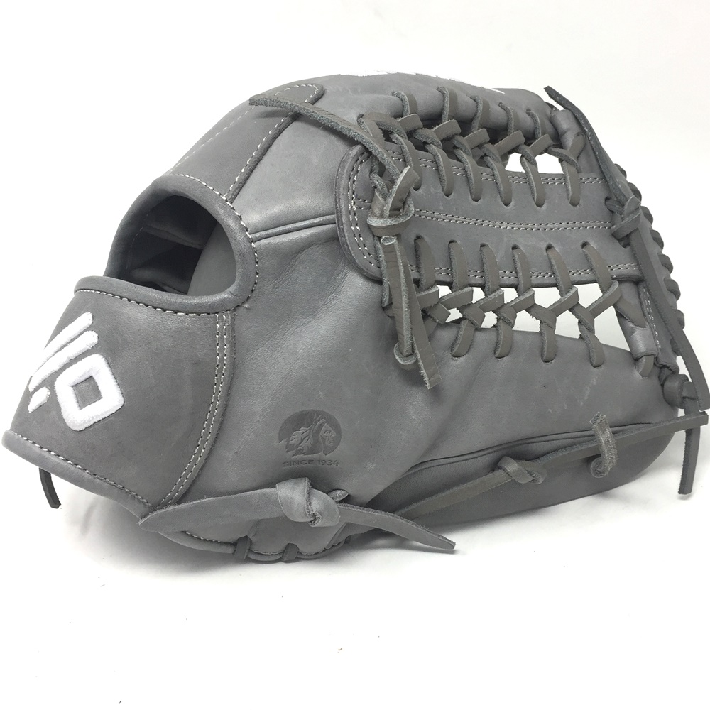 nokona-american-kip-gray-with-gray-laces-12-baseball-glove-mod-trap-web-right-hand-throw A-1200M-GR-GR-RightHandThrow Nokona Does Not Apply The American Kip series made with the finest American steer hide