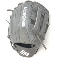 nokona american kip gray with grey laces 11 5 baseball glove closed h web right hand throw