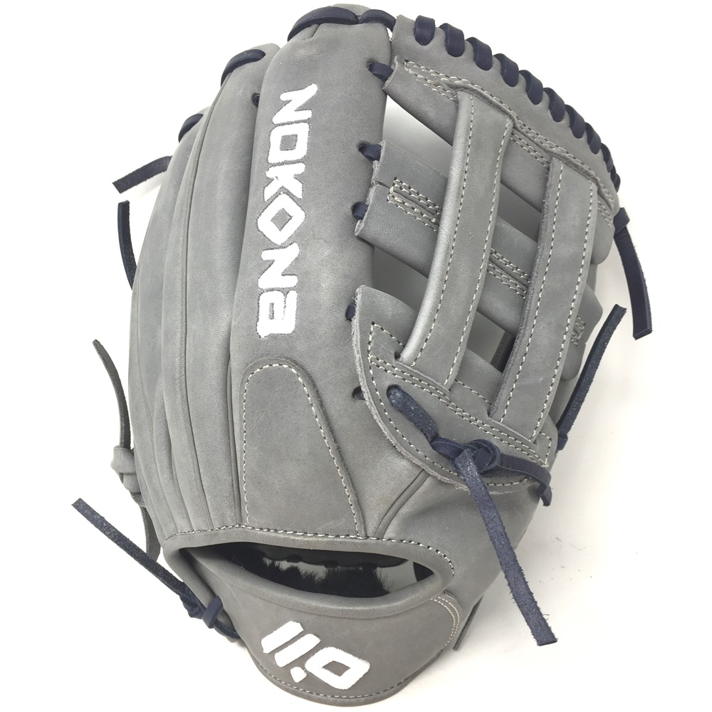nokona-american-kip-gray-with-navy-laces-11-5-baseball-glove-closed-h-web-right-hand-throw A-1150H-GR-NV-RightHandThrow Nokona Does Not Apply The American Kip series made with the finest American steer hide