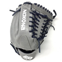 nokona american kip gray with navy laces 11 5 baseball glove mod trap web right hand throw