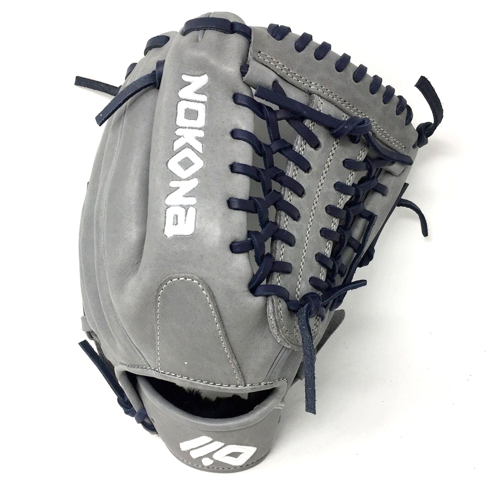 nokona-american-kip-gray-with-navy-laces-11-5-baseball-glove-mod-trap-web-right-hand-throw A-1150M-GR-NV-RightHandThrow  Does Not Apply The American Kip series made with the finest American steer hide