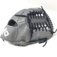 nokona american kip gray with navy laces 12 baseball glove mod trap web right hand throw