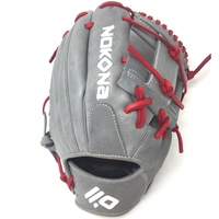 nokona american kip gray with red laces 11 5 baseball glove i web right hand throw