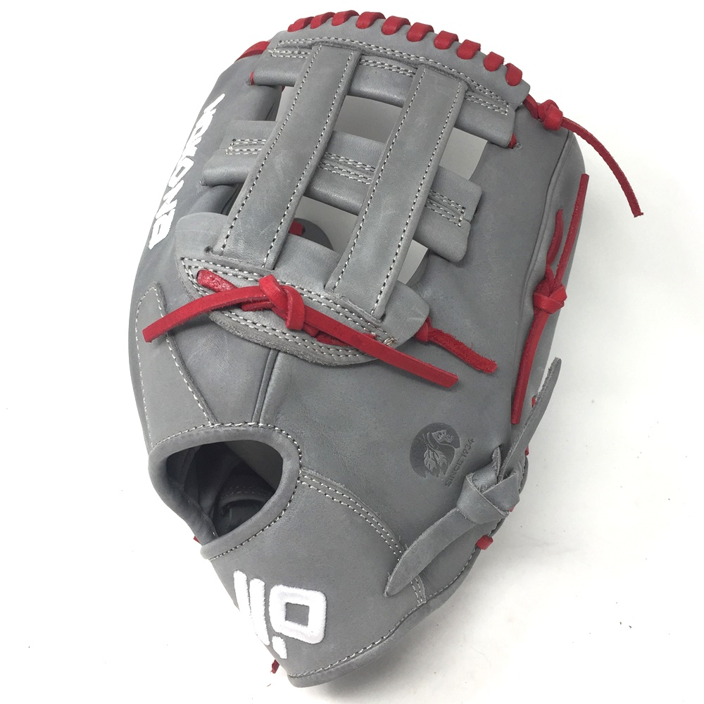 nokona-american-kip-gray-with-red-laces-12-baseball-glove-h-web-right-hand-throw A-1200H-GR-RD-RightHandThrow Nokona Does Not Apply The American Kip series made with the finest American steer hide