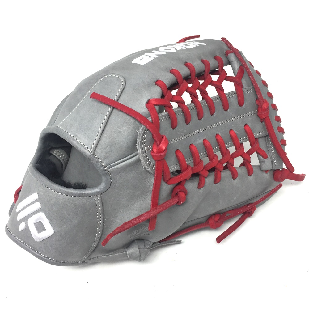 nokona-american-kip-gray-with-red-laces-12-baseball-glove-mod-trap-web-right-hand-throw A-1200M-GR-RD-RightHandThrow Nokona Does Not Apply The American Kip series made with the finest American steer hide