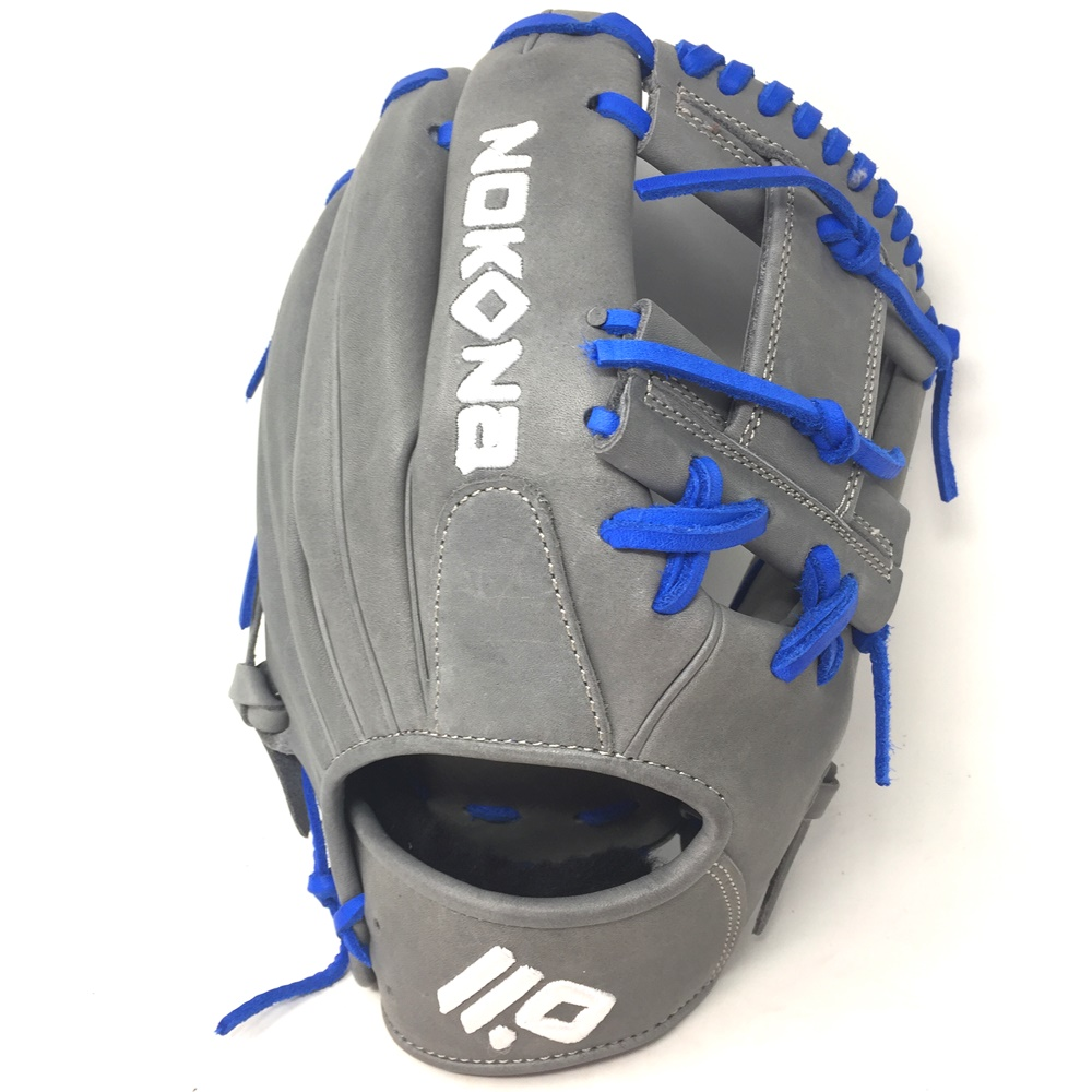 nokona-american-kip-gray-with-royal-laces-11-5-baseball-glove-i-web-right-hand-throw A-1150I-GR-RY-RightHandThrow Nokona Does Not Apply The American Kip series made with the finest American steer hide