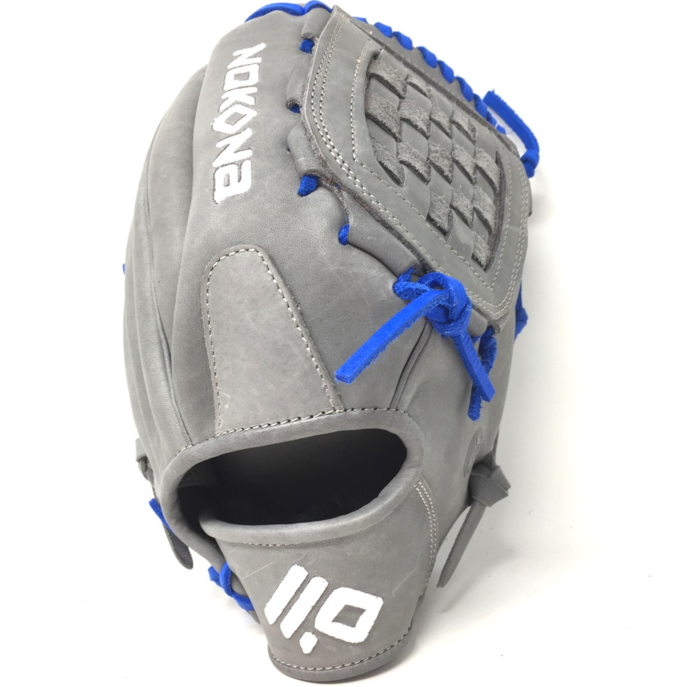 nokona-american-kip-gray-with-royal-laces-12-baseball-glove-closed-trap-web-right-hand-throw A-1200C-GR-RY-RightHandThrow Nokona Does Not Apply The American Kip series made with the finest American steer hide