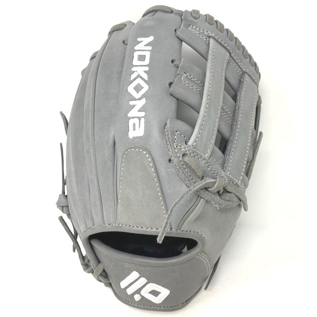 nokona-american-kip-gray-with-silver-laces-11-5-baseball-glove-h-web-right-hand-throw A-1150H-GR-SI-RightHandThrow   The American Kip series made with the finest American steer hide