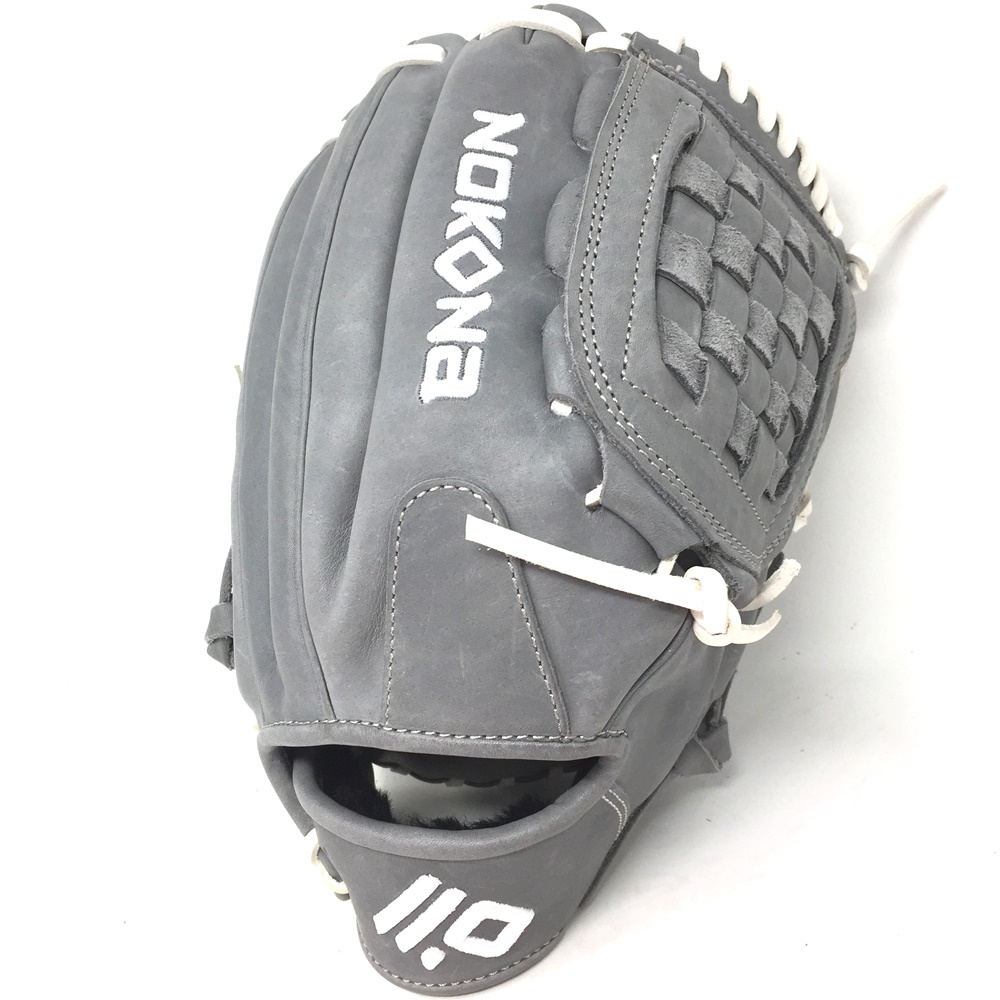 nokona-american-kip-gray-with-white-laces-12-baseball-glove-closed-trap-web-right-hand-throw A-1200C-GR-WH-RightHandThrow Nokona Does Not Apply The American Kip series made with the finest American steer hide