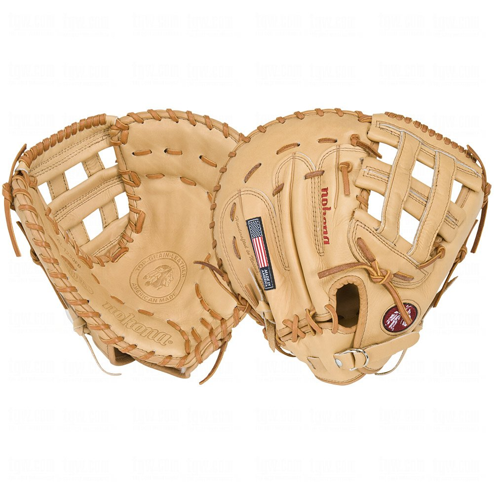 nokona-american-legend-series-first-base-mitt-al1250fbh-right-handed-throw AL-1250FBH-Right Handed Throw Nokona New Nokona American Legend Series First Base Mitt AL1250FBH Right Handed Throw