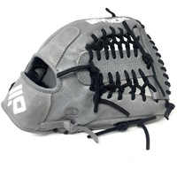 nokona americankip 14u gray with black laces 11 25 baseball glove mod trap web right hand throw