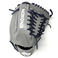 nokona americankip 14u gray with navy laces 11 25 baseball glove mod trap web right hand throw