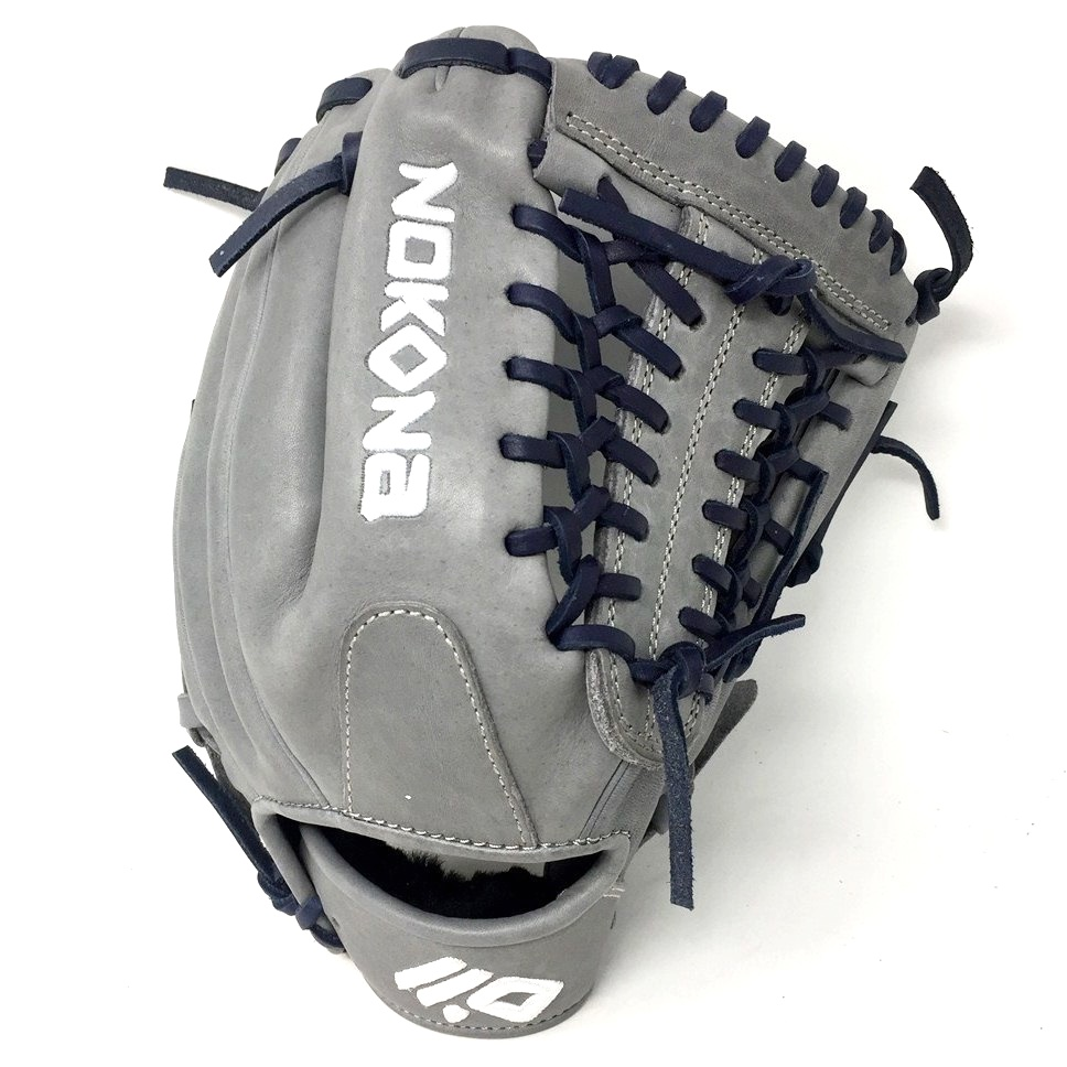 nokona-americankip-14u-gray-with-navy-laces-11-25-baseball-glove-mod-trap-web-right-hand-throw A-200M-GR-NV-RightHandThrow Nokona Does Not Apply The American Kip series made with the finest American steer hide