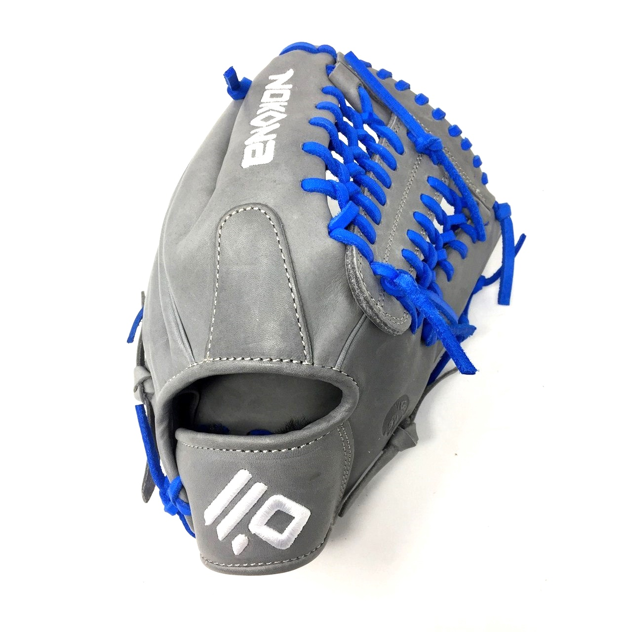 nokona-americankip-14u-gray-with-royal-laces-11-25-baseball-glove-mod-trap-web-right-hand-throw A-200M-GR-RY-RightHandThrow Nokona Does Not Apply The American Kip series made with the finest American steer hide