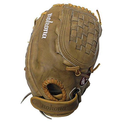 nokona-banana-tan-fast-pitch-btf-1200c-softball-glove-12-inch-right-handed-throw BTF-1200C-Right Handed Throw Nokona 808808888932 Nokona Banana Tanned is game ready leather on this fastpitch nokona