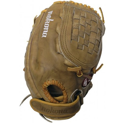 nokona-banana-tan-fastpitch-btf-1300c-softball-glove-right-handed-throw BTF-1300C-Right Handed Throw Nokona 808808888970 Nokona Banana Tan Fastpitch BTF-1300C Softball Glove Right Handed Throw