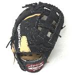 nokona bison 12 5 black alpha first base mitt baseball glove s 3hb right hand throw
