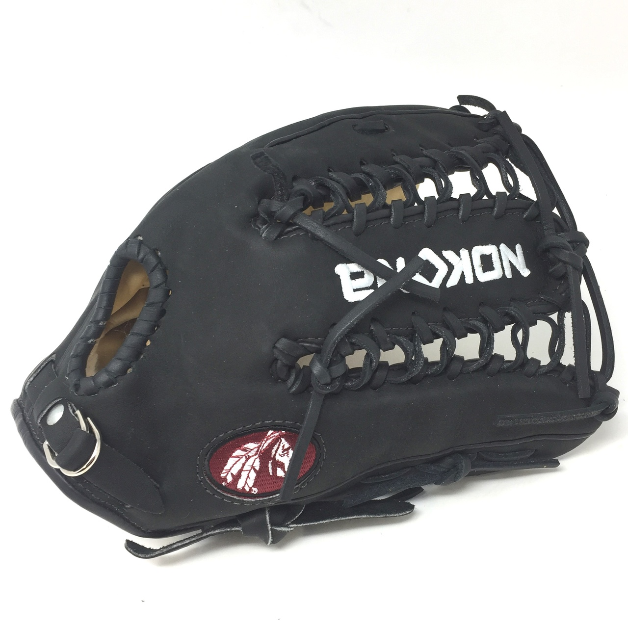 nokona-bison-black-alpha-12-25-baseball-glove-s-7tb-right-hand-throw S-7TB-RightHandThrow  808808893325 Young Adult Glove made of American Bison and Supersoft Steerhide leather