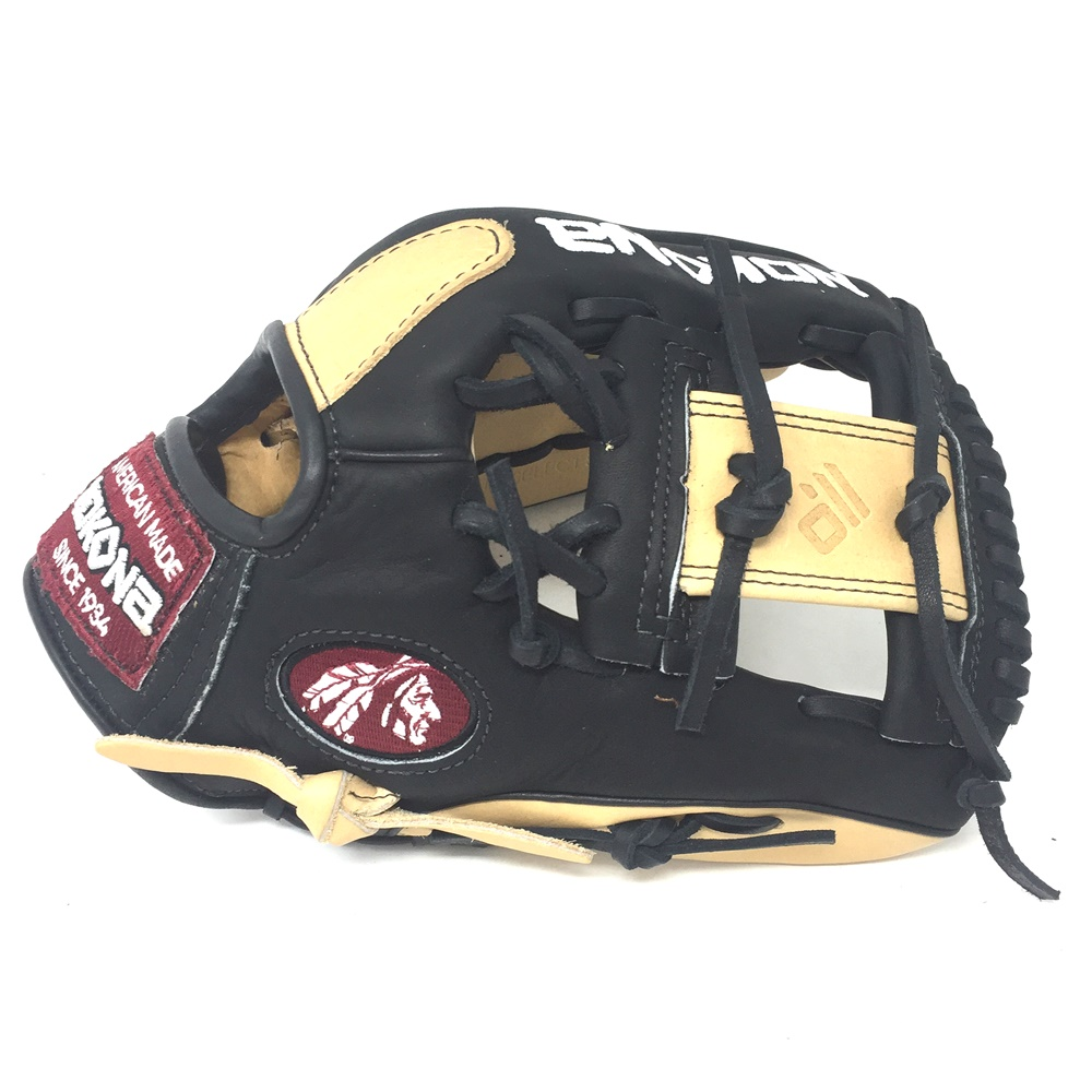 nokona-bison-black-alpha-select-baseball-glove-s-200ib-11-25-inch-right-hand-throw S-200IB-RightHandThrow Nokona 808808893523 <span>Young Adult Glove made of American Bison and Supersoft Steerhide leather