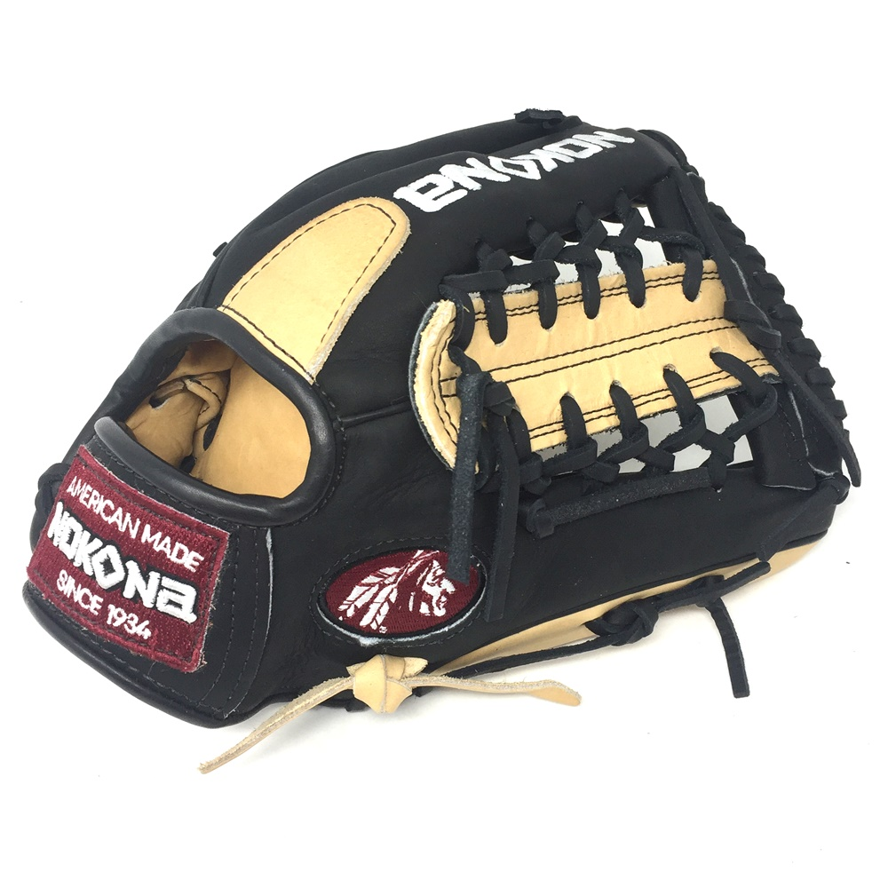 nokona-bison-black-alpha-select-baseball-glove-s-200mb-11-25-inch-right-hand-throw S-200MB-RightHandThrow Nokona 808808893547 <span>Young Adult Glove made of American Bison and Supersoft Steerhide leather
