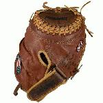Nokona Fastpitch Catchers Mitt Buckaroo 32.5 Inch. Nokona has perfected the art of combining Kangaroo leather and cowhides to form a lightweight and sturdy glove. Kangaroo leather, both amazingly strong and lightweight, increases durability. Nokona's classic Walnut CrunchT Leather adds the body and form needed to maintain a solid pocket and overall fit. Features Nokona's new deep-pocket, easier to break-in fastpitch pattern, which includes our new and improved Ristankor Closure System. 32.5 inch catcher's pattern. Closed web. Closed back.