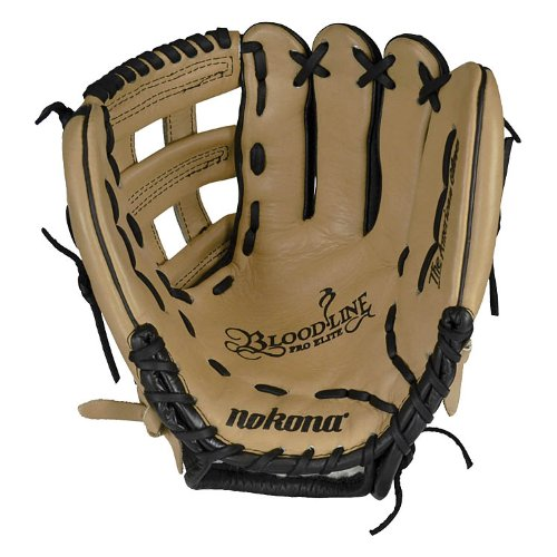 nokona-bl-1175h-bloodline-pro-elite-sandstone-baseball-glove-11-75-right-handed-throw BL-1175H-Right Handed Throw Nokona 808808888222 Nokonas top-of-the-line bloodline baseball glove is now available in a blacksandstone
