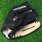 pNokona young adult black alpha American Bison S-7MTB Baseball Glove 12.75 Trap Web./p