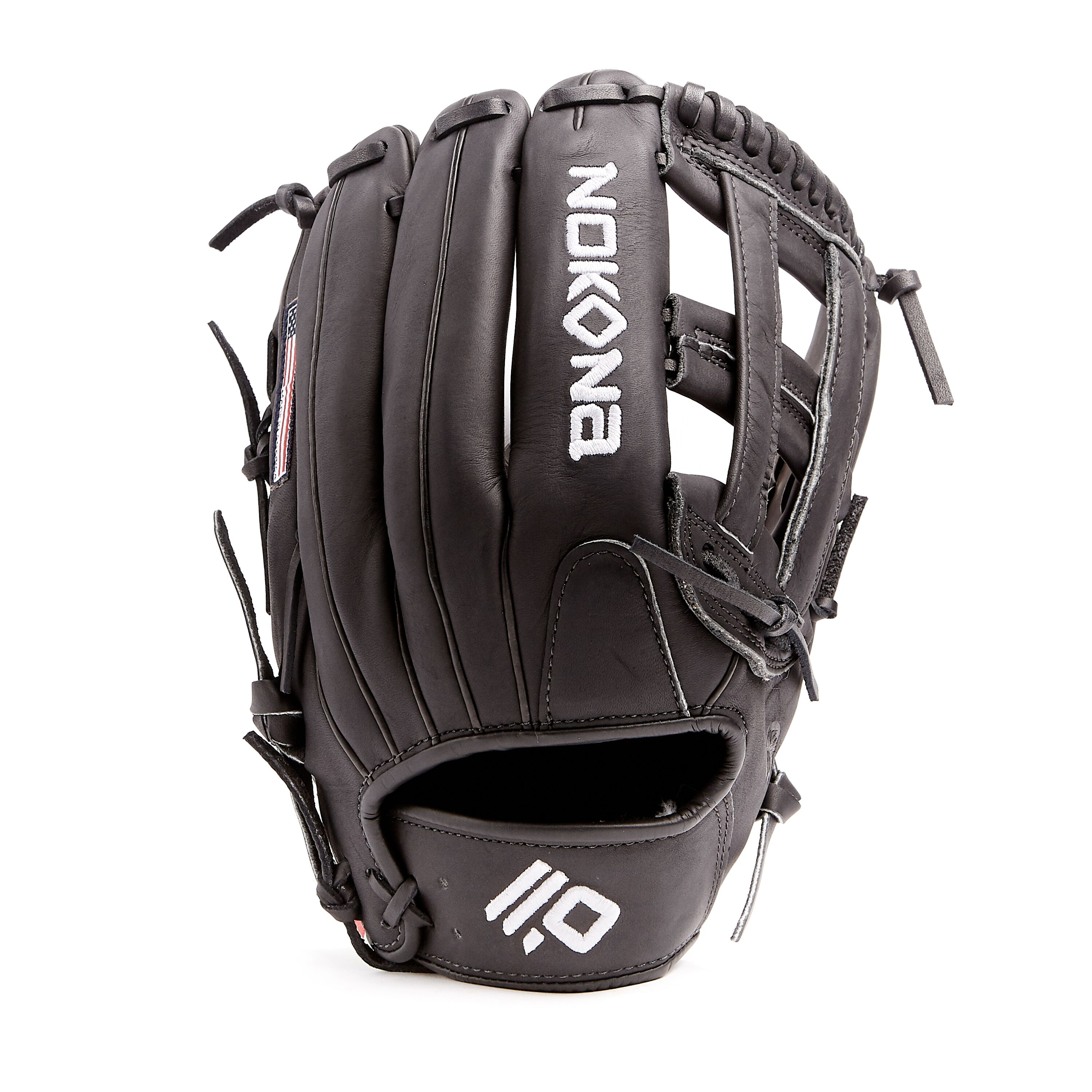nokona-black-americankip-baseball-glove-12-75-right-hand-throw A-1275H-BK-RightHandThrow  808808894285 <span>The American Kip series made with the finest American steer hide