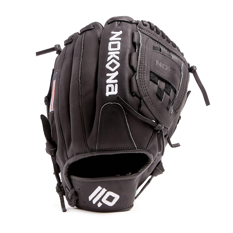 nokona-black-americankip-baseball-glove-12-right-hand-throw A-1200C-BK-RightHandThrow  808808894247 <span>The American Kip series made with the finest American steer hide