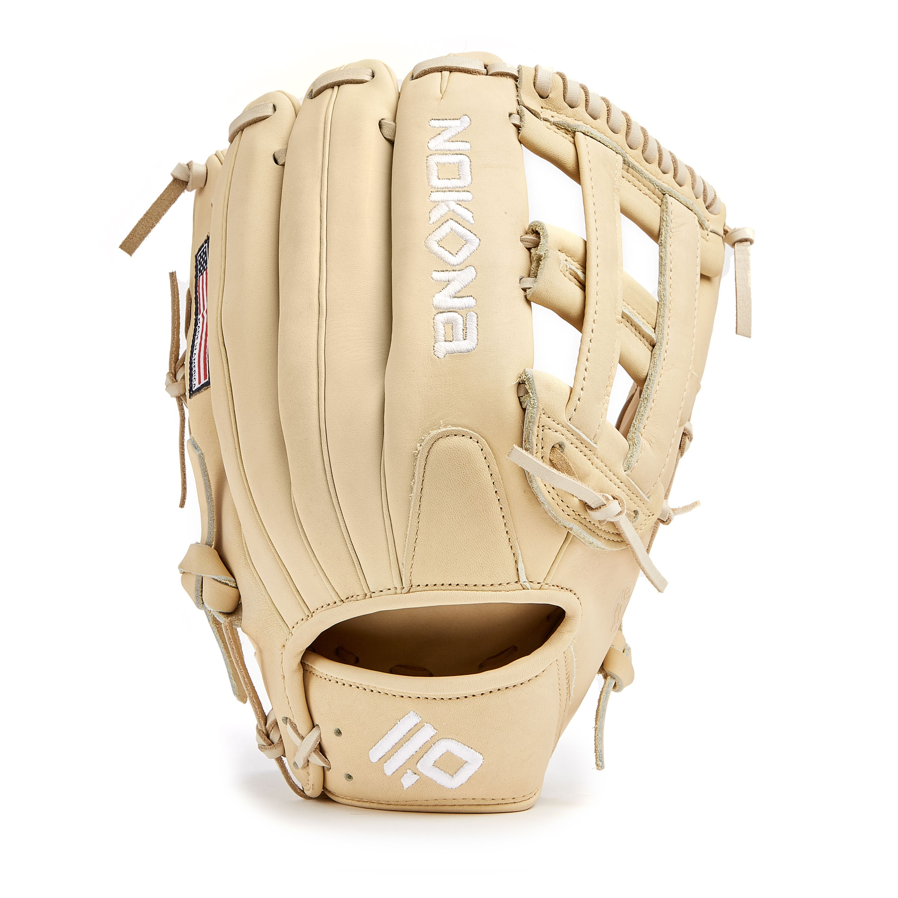 nokona-blonde-americankip-baseball-glove-12-75-right-hand-throw A-1275H-BL-RightHandThrow  808808894407 <span>The American Kip series made with the finest American steer hide