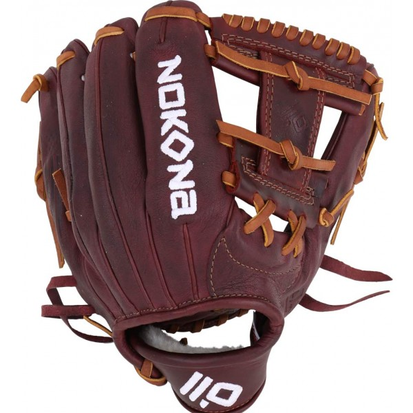 nokona-bloodline-p-41-baseball-glove-11-25-right-hand-throw P-41-RightHandThrow Nokona 808808890638 11.25 Inch Pattern. I-Web with Open Back. Infield Pattern Kangaroo Leather