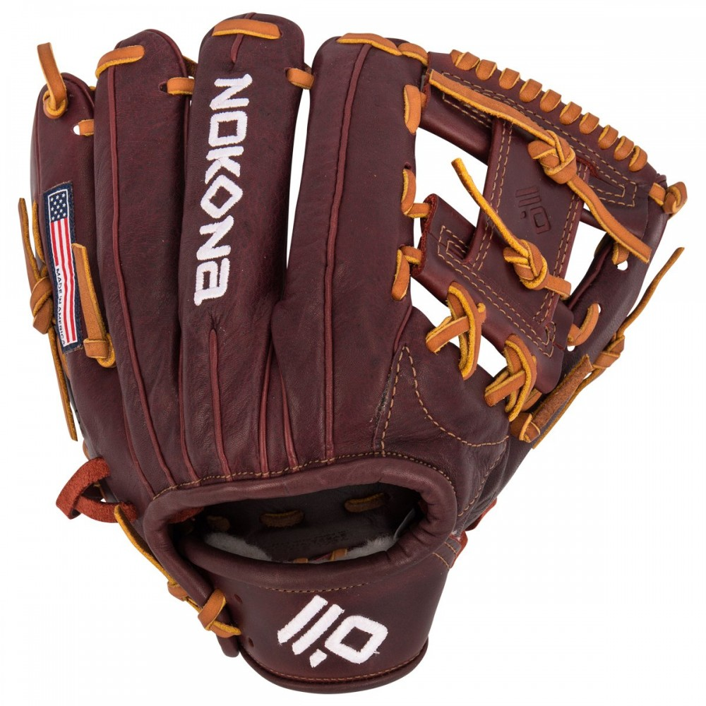 nokona-bloodline-pro-11-5-inch-p6i-baseball-glove-right-hand-throw P6I-RightHandThrow  808808891307 11.50 Inch Pattern Infielder Glove Kangaroo Leather Shell Combines Superior Durability