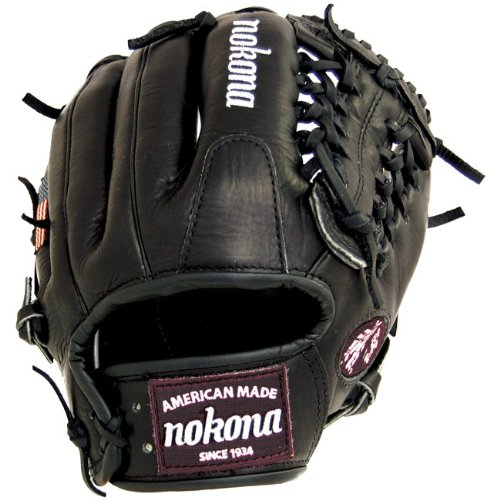 nokona-bloodline-pro-elite-black-baseball-glove-modified-trap-11-5-inch-right-handed-throw BL-1150M-BLK-Right Hand Throw Nokona 808808883500 Nokona uses proprietary Bloodline leather as the basis for this series.